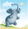 Elephant and butterfly vector
