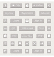 Set of gray buttons and web elements vector