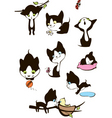 Set of cheerful kittens vector