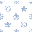 Seamless marine background vector