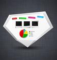 Announcement paper origami label vector