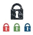 Locked grunge icon set vector