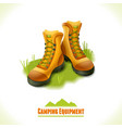 Camping symbol boots vector