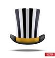 Striped big gentleman hat cylinder vector