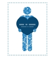 Blue white lineart plants man in love silhouette vector