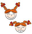 Cartoon girls face eps10 vector