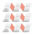 White origami paper numbered banners vector