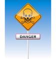 Danger skull traffic vector