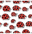 Ladybird family seamless pattern for your design vector