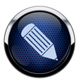 Blue honeycomb pencil icon vector