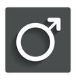 Male sign icon male sex button vector