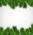 Fir christmas frame vector