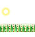 Flowering grass field vector
