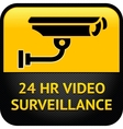 Video surveillance sign cctv sticker vector
