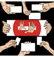 Holding hands set vector