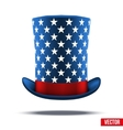 Blue big wizard hat cylinder with white stars vector