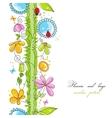 Cute floral borders vector