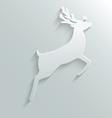 Paper reindeer vector