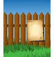 Aged poster on the fence vector