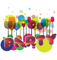 Party glasses illustration vector