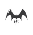 Bat design template vector