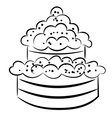 Cartoon cake eps10 vector