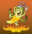 Corn cartoon character vector