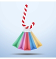 Background colorful sweet christmas shopping vector