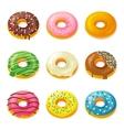 Set of tasty donuts vector