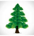 Green leaf christmas tree vector