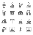 Public speaking icons vector
