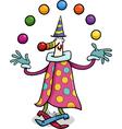 Circus clown juggler cartoon vector