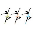 Ballet dancers for your design vector