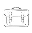 Briefcase drawing vector
