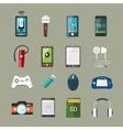 Gadget icons set vector