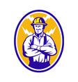 Electrician construction worker lightning bolt vector