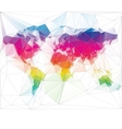 Colored world map triangle design vector