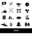Black simple japan theme icons set eps10 vector