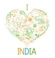 I love india vector