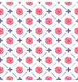 Seamless watercolor pattern with roses on the vector