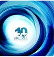 Blue swirl abstract background vector