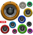 Set of colorful sound load speakers vector
