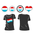 T-shirt with the flag of luxembourg vector