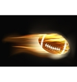 Ball for american football on fire vector