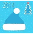 Card christmas hat vector