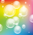 Colorful bubbles vector