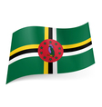 State flag of dominica vector