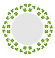 Decorative circular background with clover vector