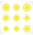 Yelow sun symbols vector