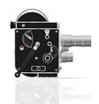 Old retro vintage movie video camera 01 vector